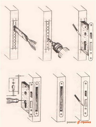Как врезать замок в межкомнатную дверь своими руками 10